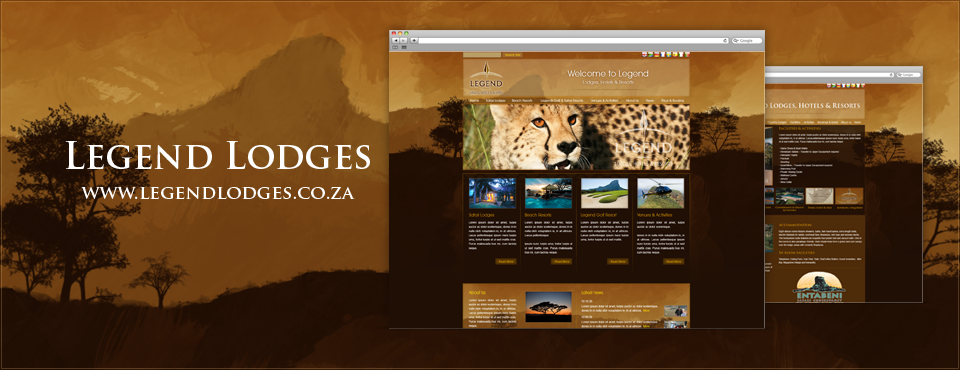Legend Lodges - Website redesign subcontracted